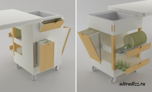 компактная кухонная мебель 1