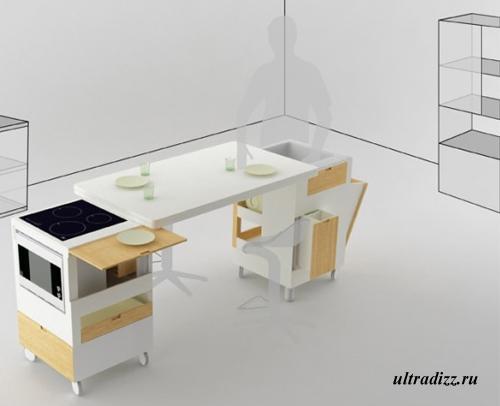 компактная кухонная мебель 2