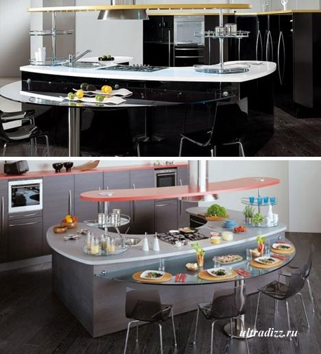 кухонная мебель с изогнутыми поверхностями 2