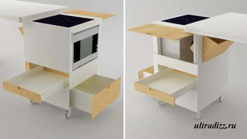 компактная кухонная мебель 3