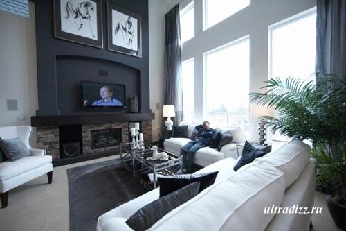 черно-белый интерьер дома 2