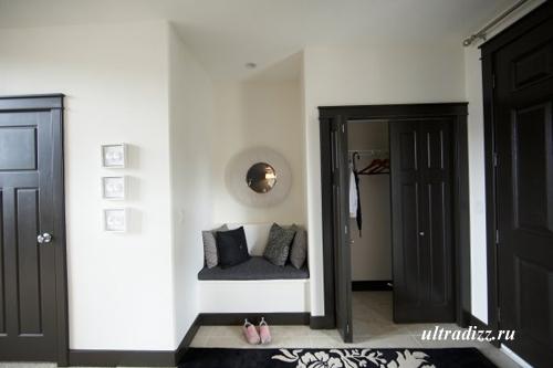 черно-белый интерьер дома 3