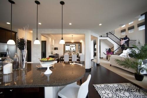 черно-белый интерьер дома 18