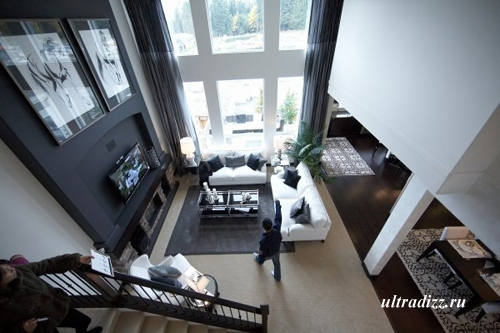 черно-белый интерьер дома 17
