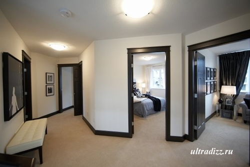 черно-белый интерьер дома 16