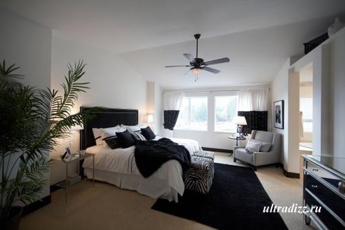 черно-белый интерьер дома 15