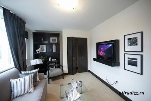 черно-белый интерьер дома 1