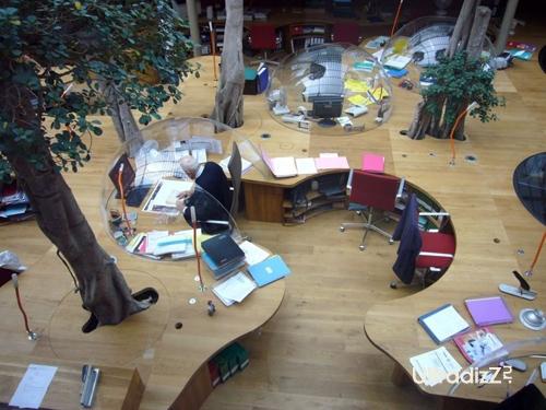 необычный дизайн интерьера офиса 1