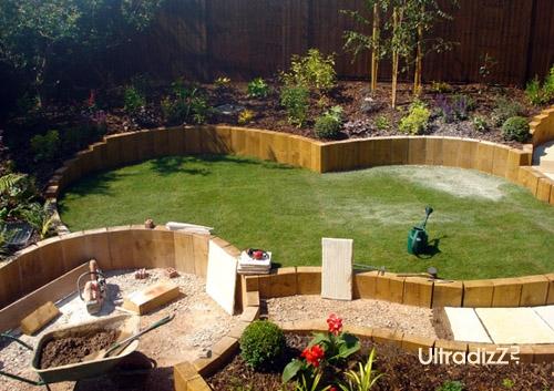 реализация проекта дизайна частного двора