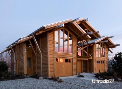 деревянный каркасный дом 2