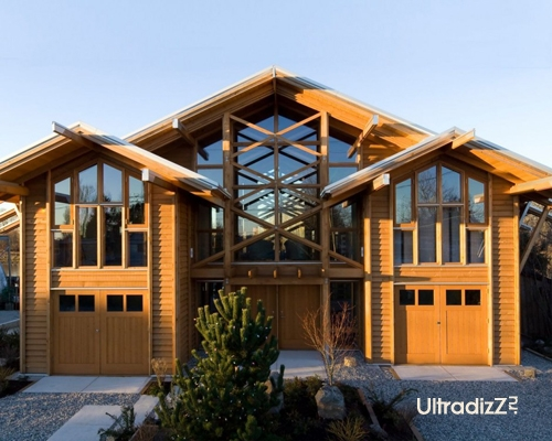 деревянный каркасный дом 4