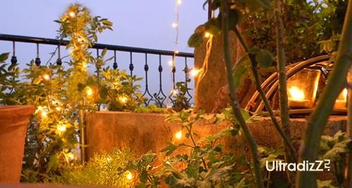 вечернее освещение лоджии