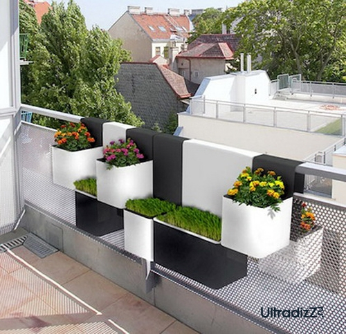 подвесные горшки для балкона