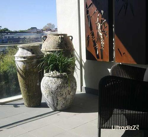 ландшафтная керамика на лоджии