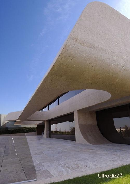 экстерьер дома из бетона
