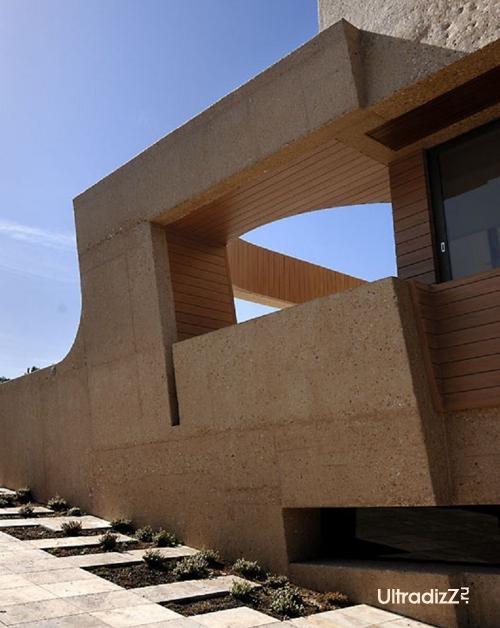 элементы фасада бетонного дома