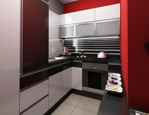кухня в интерьере маленькой квартиры