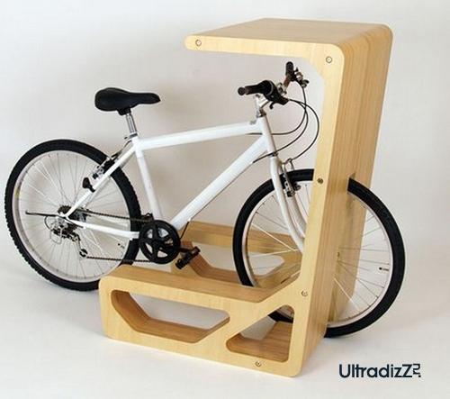 хранение велосипеда в интерьере