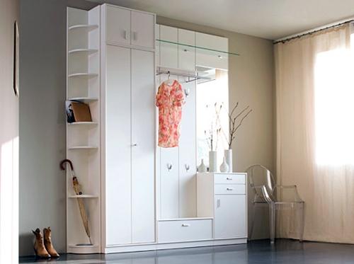 вместительная мебель для интерьера прихожей