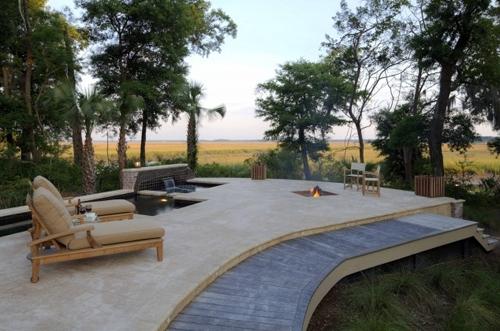 дизайн площадки в резиденции Кросби