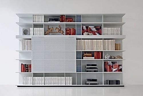 современный книжный стеллаж