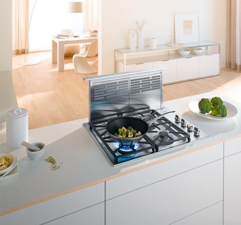 новый тип кухонной вытяжки в интерьере