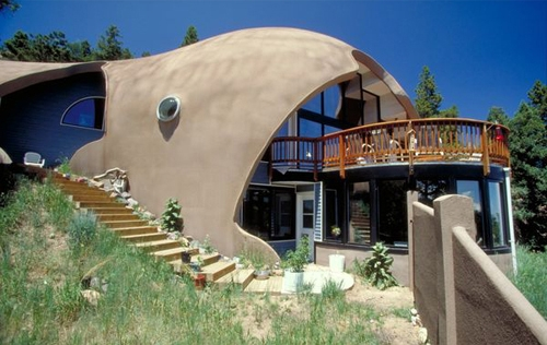 фасад куполообразного монолитного дома