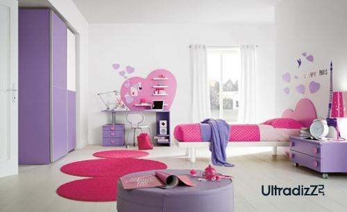 розовый цвет в интерьере современной детской