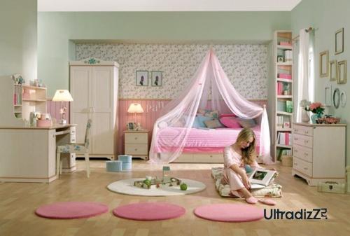розовый в интерьере детской комнаты