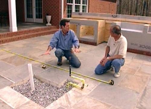 как построить камин этап 1