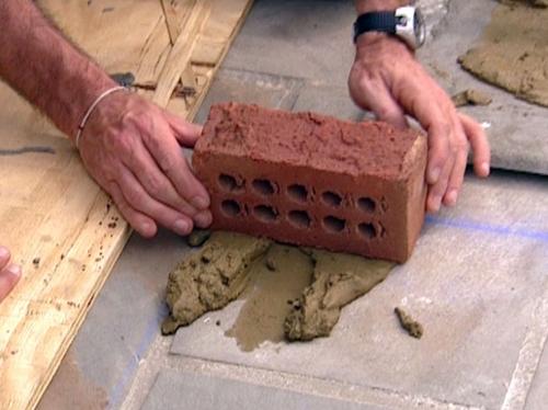 как построить камин этап 2