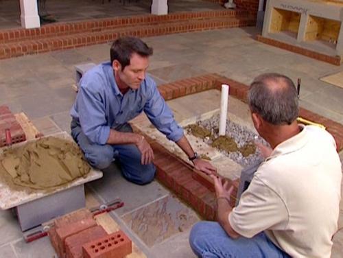 как построить камин этап 3