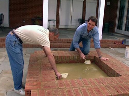 как построить камин этап 9