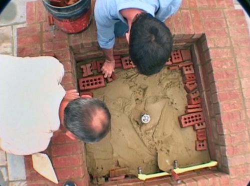 как построить камин этап 8