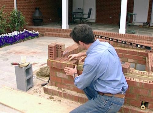 как построить камин этап 7