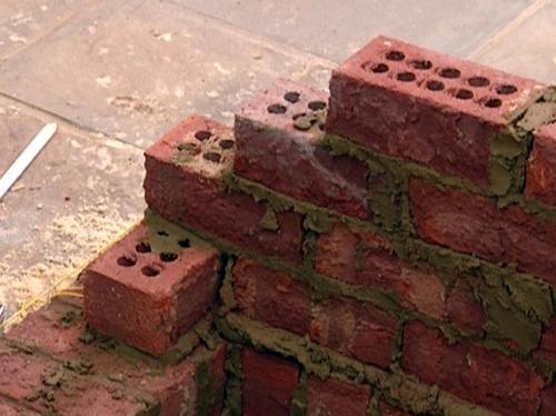 как построить камин этап 4
