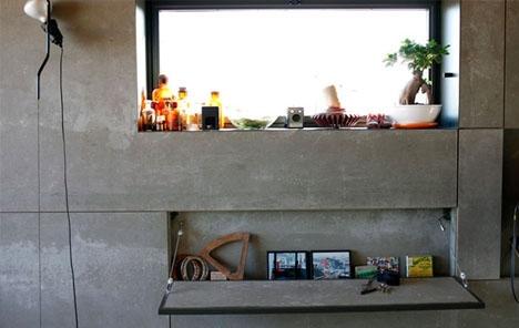 откидной столик в интерьере холостяка