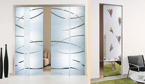итальянские стеклянные межкомнатные двери