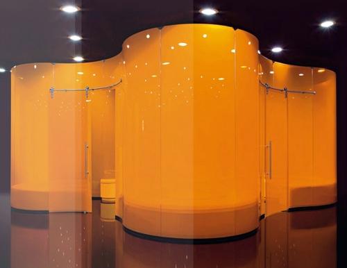 оригинальная система со стеклянными дверьми