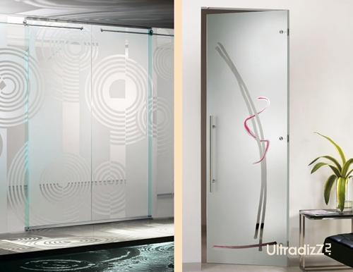 стеклянные межкомнатные двери с одной и двумя створками
