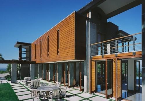 комбинированный дизайн фасадов коттеджей 4