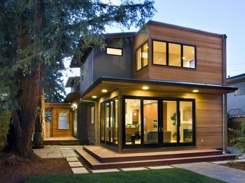 комбинированный дизайн фасадов коттеджей 3
