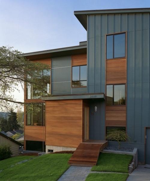дизайн фасадов коттеджей при помощи сайдинга 1