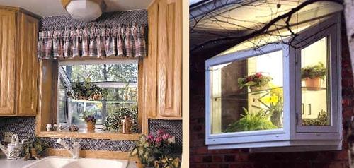 современное выступающее окно для дачи
