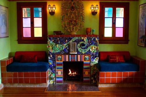 мозаичный каминный портал