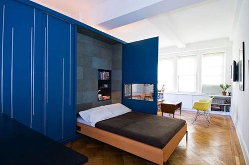 откидывающаяся кровать, встроенная в шкаф