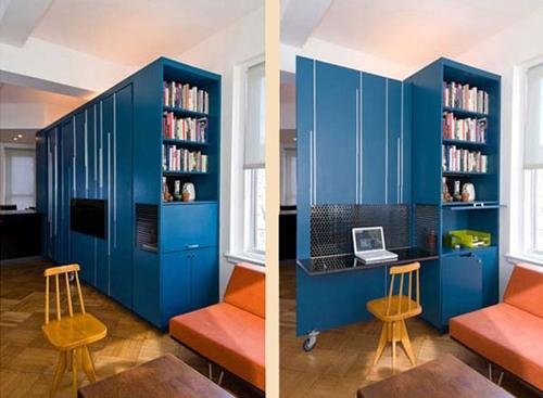 зона кабинета в квартире студии