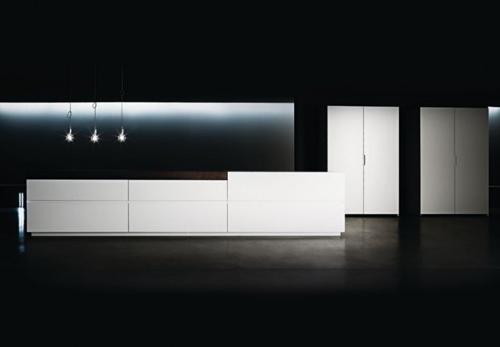 минималистичная кухонная мебель
