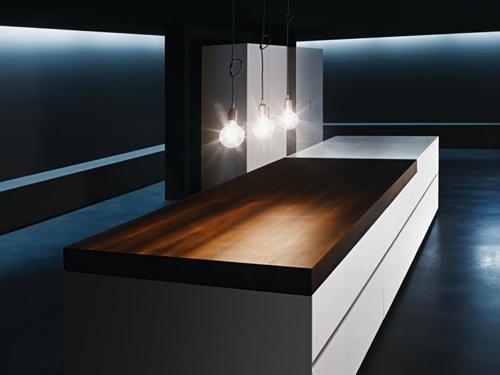 минималистичный кухонный стол