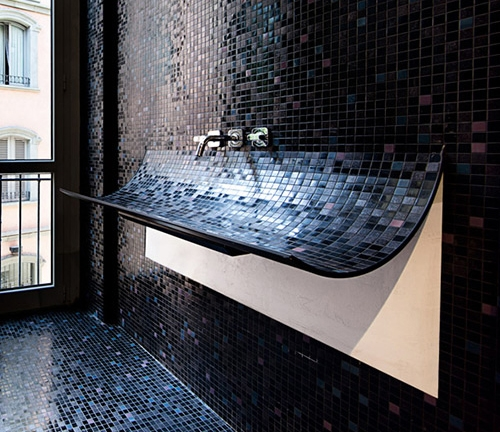 раковина для ванной с мозаичным покрытием
